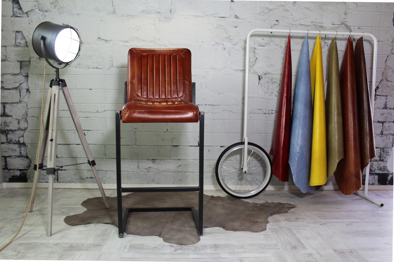 Barhocker I Italienische Designer Ledermöbel