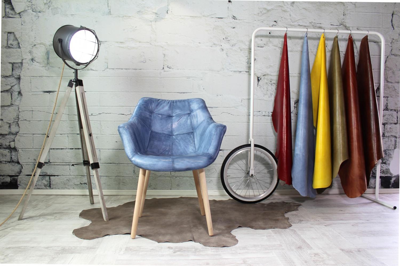 Lederstuhl Federica Italienische Designer Ledermöbel